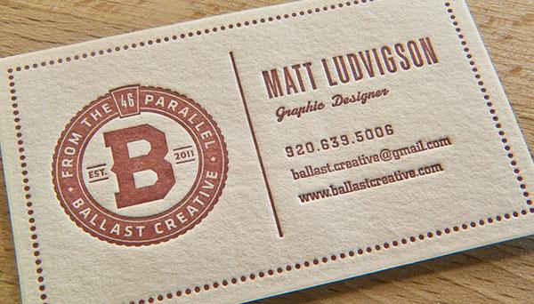 business cards Business Cards identity ballast design letterpress logo paper duplex