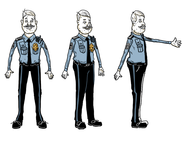 Character Design Side View : Tsa training video character designs on risd portfolios