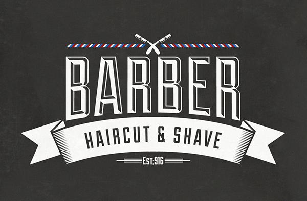 Barber Font : Barber Shop Vintage Label (Free Download) on Adweek Talent Gallery