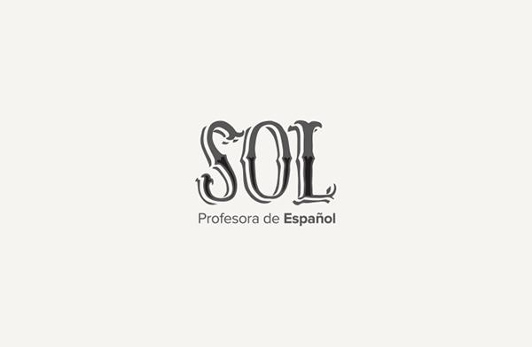 Sol,professora,espanhol,español,spanish,visual identity
