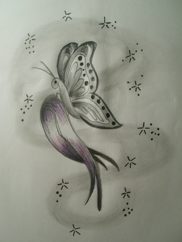 Tattoo designs for Pancreatic cancer ribbon tattoos