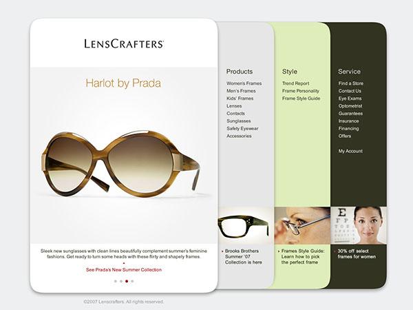 LensCrafters Website on Behance