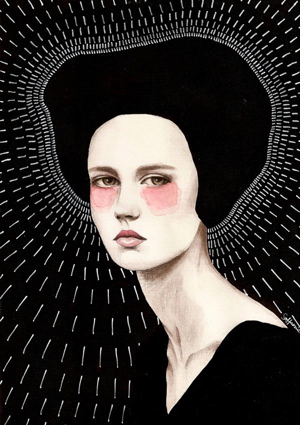 girls woman portrait watercolour