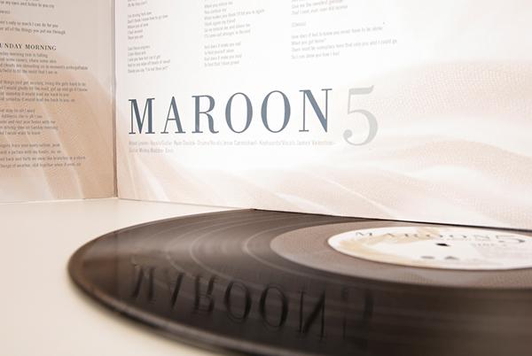 typography maroon 5 lp on philau portfolios