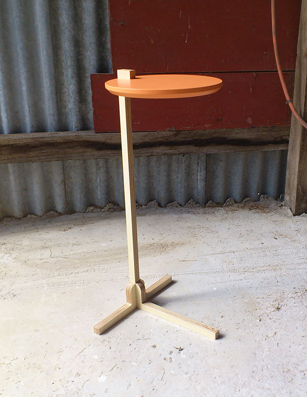 plywood cnc wood table side table