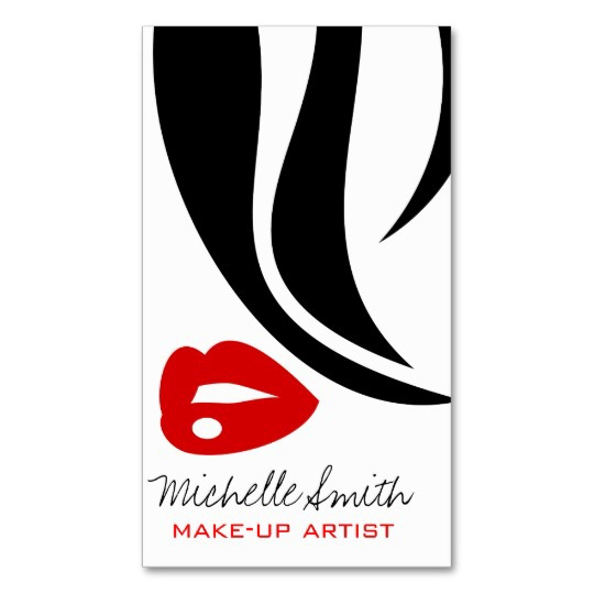 Minimalist red lips business card design on behance reheart Images