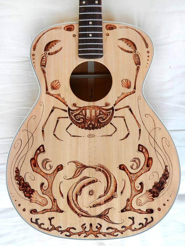 Fender Aquatic Guitar On Behance
