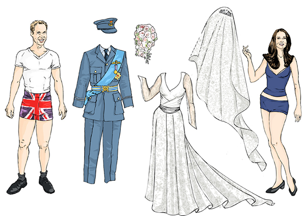 Royal Wedding Sticker Dress Up : The royal wedding paper doll book on pantone canvas gallery