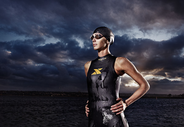 sports xterra Tadder fitness Chris Lieto triathlete wetsuit running water