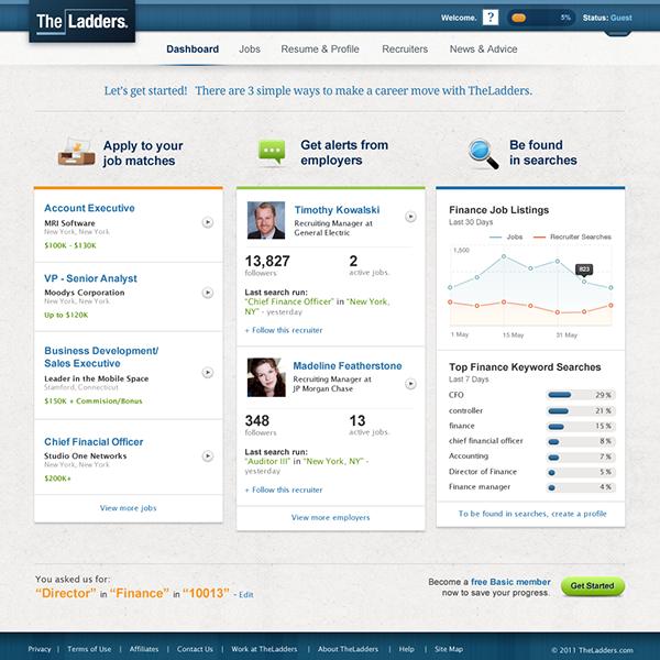 Job matching website