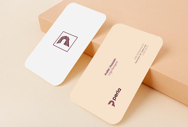 perla logo | full Branding | stationery design