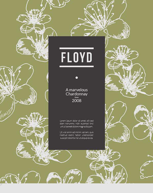 FLOYD Wine Branding & Packaging on Behance