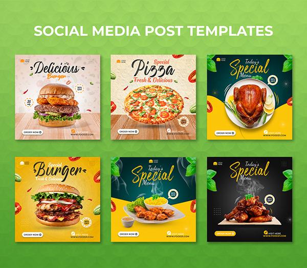 Food Social Media Post Templates I Social Media Banner