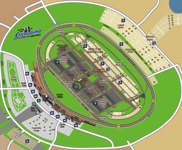 NASCAR ChicagoLand Speedway Map on Behance