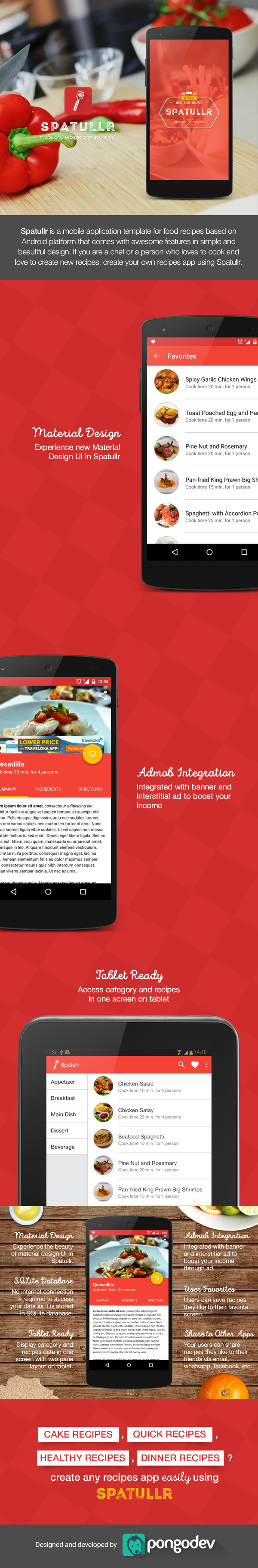 Spatullr recipes app for android on behance forumfinder Image collections