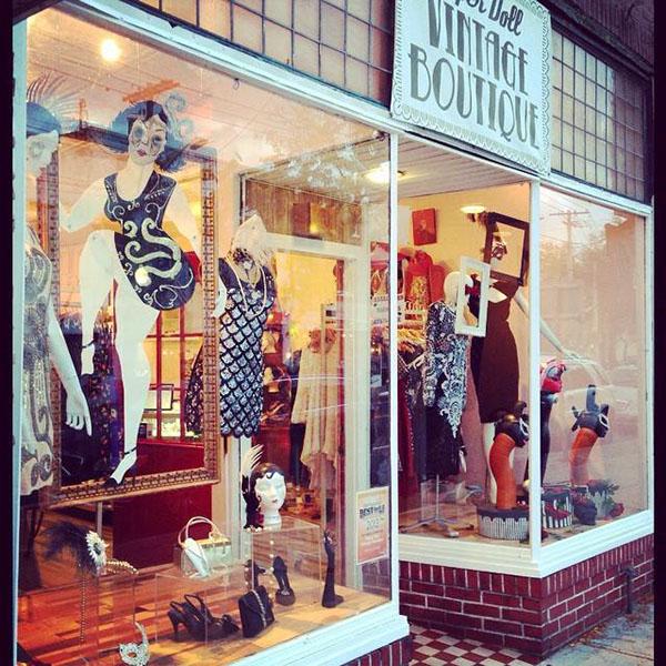 Halloween Shop Displays.Paper Doll Vintage Boutique Halloween Window Display On Behance