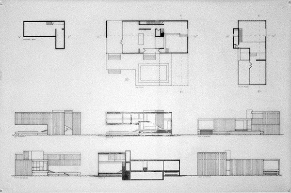 Farnsworth house addition on behance for Farnsworth house floor plan