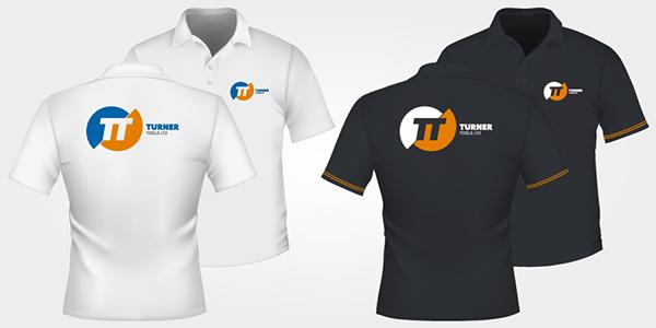 Precision tools Logo Design apparel blue burnt orange orange