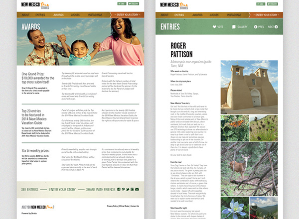 New Mexico True Microsite On Aiga Member Gallery