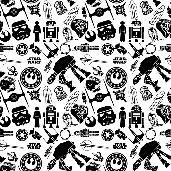 Star Wars Repeating Pattern On Behance Mesmerizing Star Wars Pattern