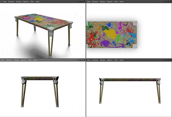 Dripping Table Corner Piece 3d printing Stephan Bleeker Customizable Design Recyceble
