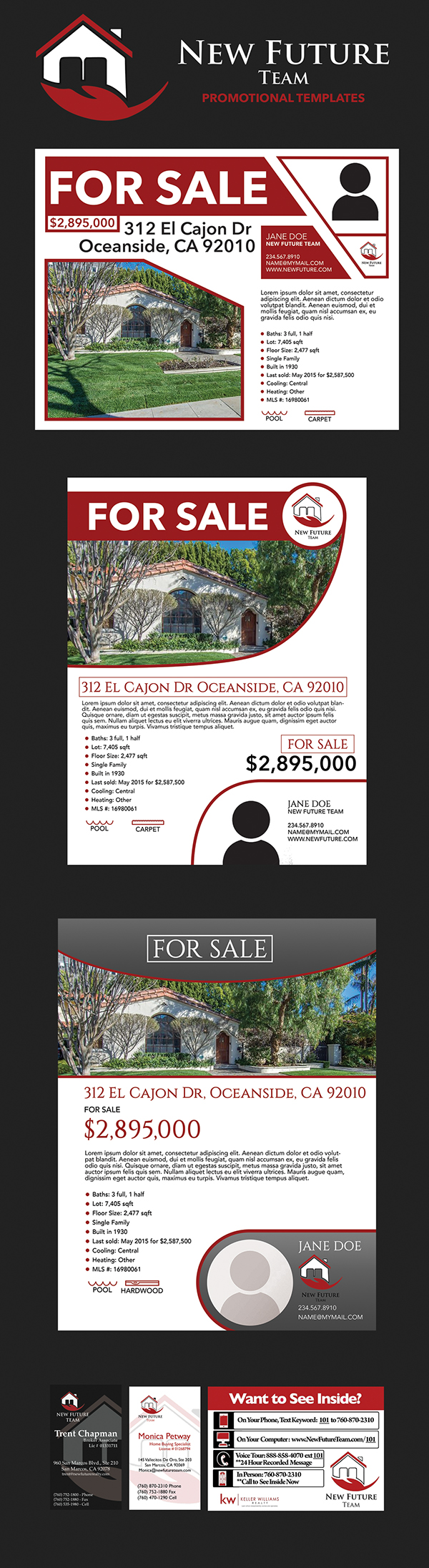 Real Estate Print Media Templates On Wacom Gallery