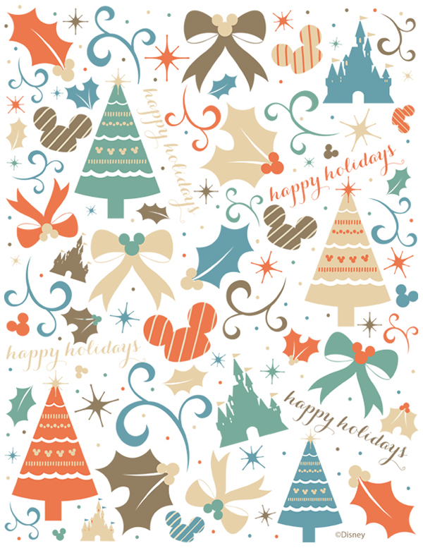 walt disney world wrapping paper gift tags on behance