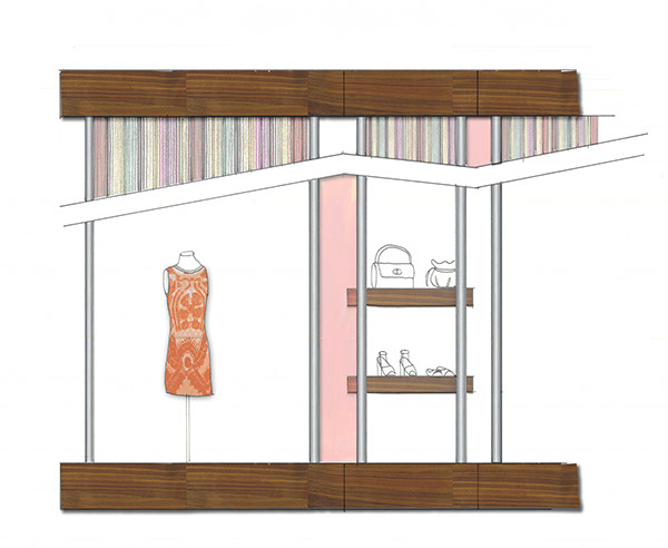 Showroom Front Elevation Design : Missoni fashion showroom spring on philau portfolios