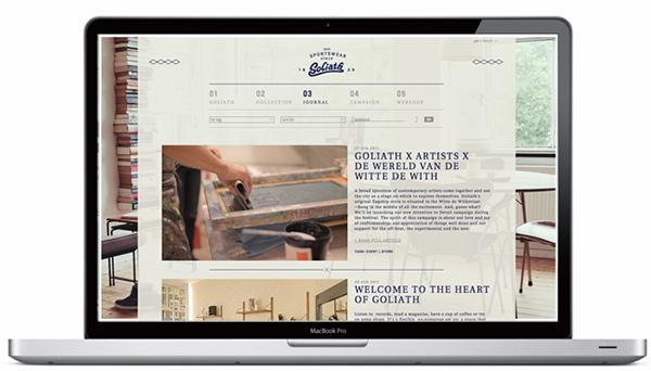 goliath Sportswear footwear shoe visual identity Webdesign brands