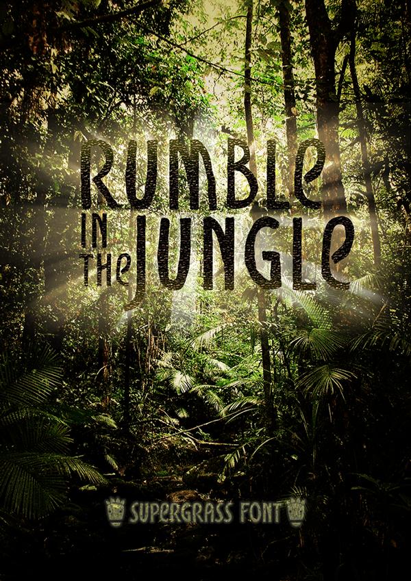 jungle font festival Island carattere tipografia giungla run bvs