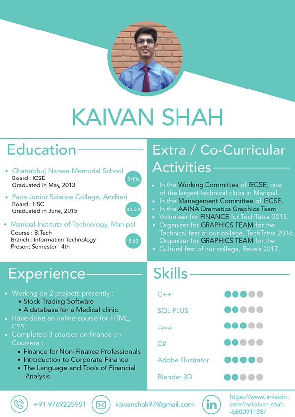 Personal Resume - Adobe Design Achievement Awards