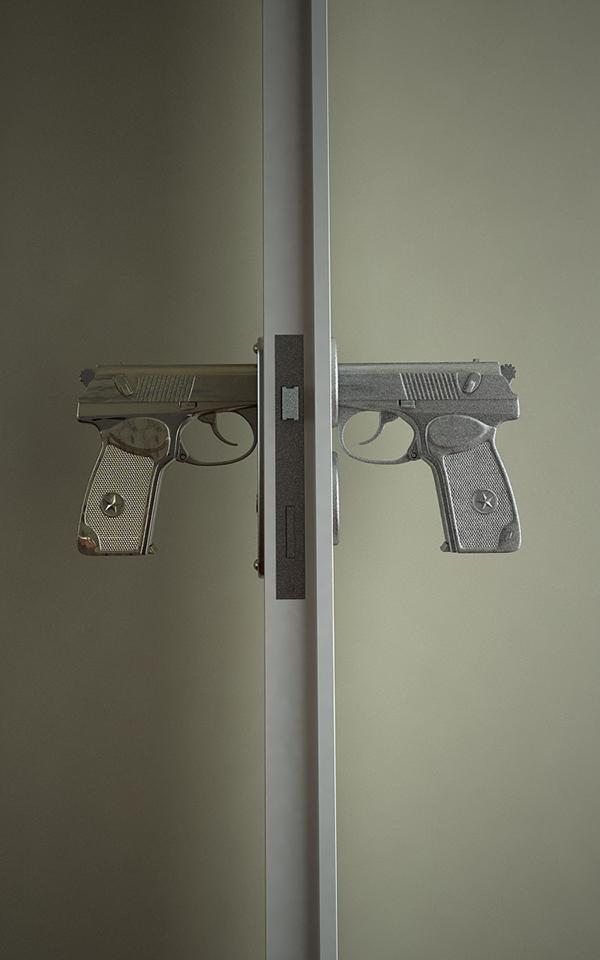 guns handle pistol BANG Weapon furniture door Door handle Russia