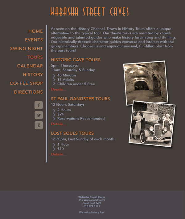 concept Small Business Website wabasha responsive layout
