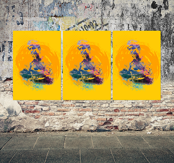 Free Grunge Poster Mockup