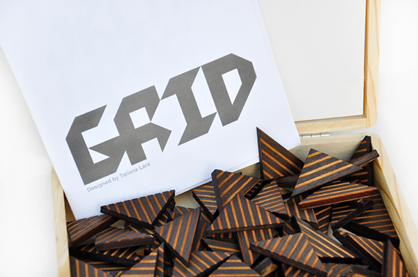 type graphic grid board game Packaging
