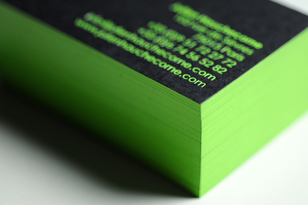 Julien hauchecorne business card lime green on behance reheart Gallery