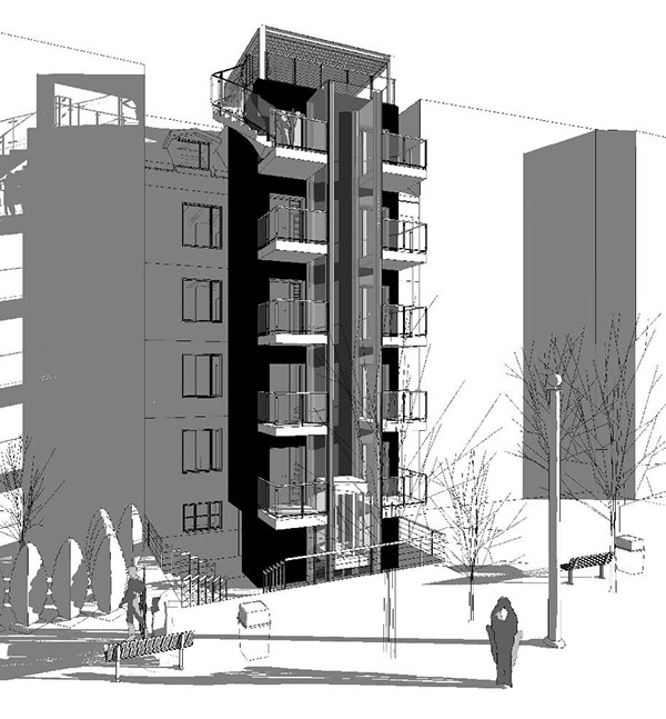 Refurbishment and conversion of residential buildings on Behance