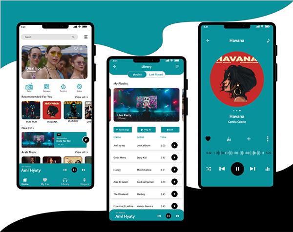 Music App 🎻🎺🎷💙