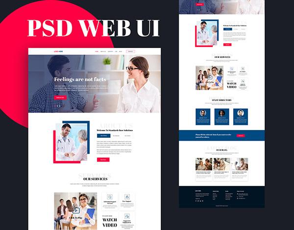 Medical website ui design