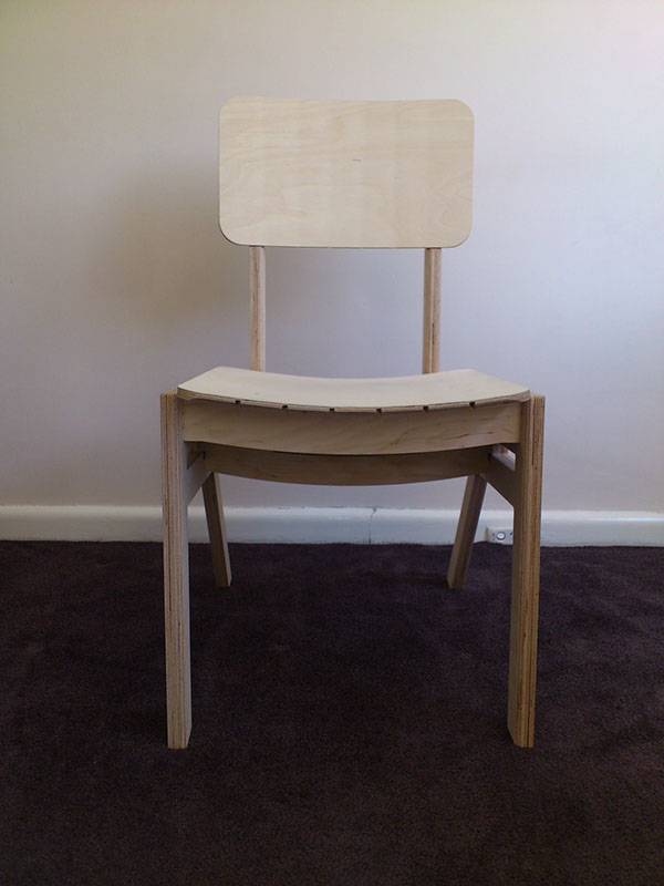 chair plywood cnc Routing glueless Stackable
