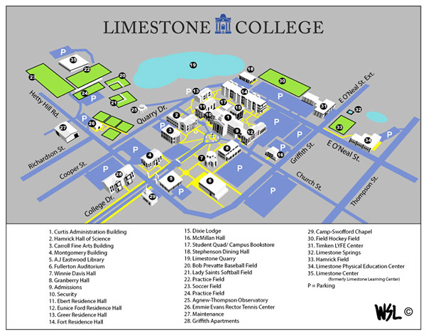 Limestone College Campus Map on Behance