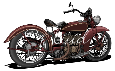 Vector Indian Motorcycle On Behance