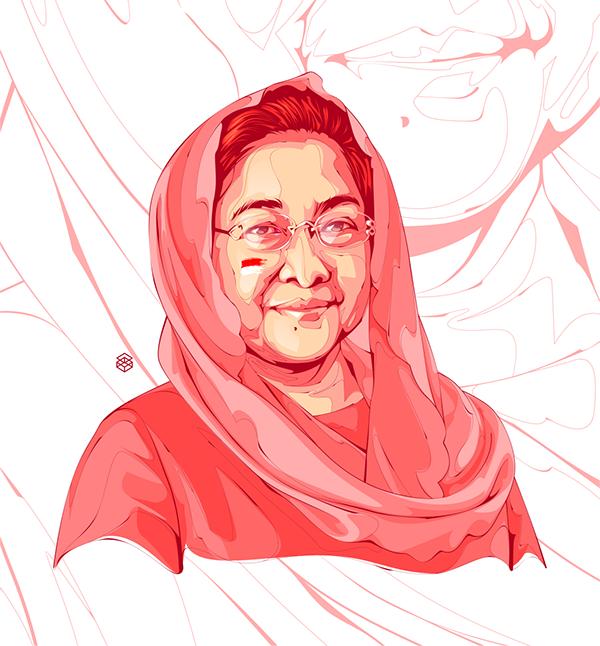 Megawati Soekarnoputri, Tracing, Illustration