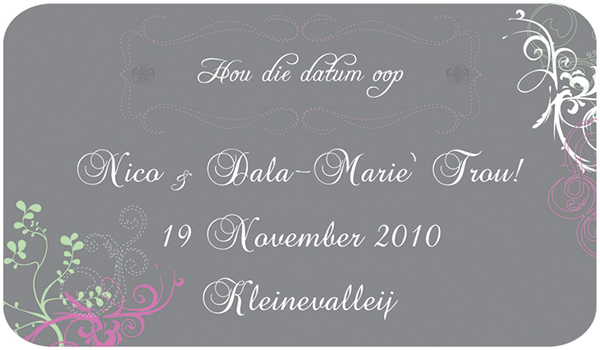 Wedding Invitation Wording Examples In Afrikaans Nemetas
