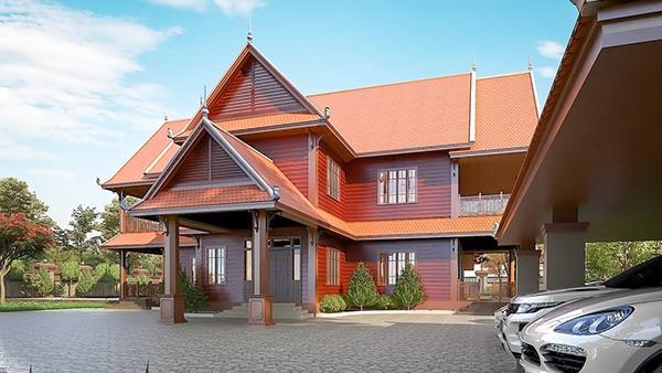 Khmer Villa. Graphic Design, Architecture, Interior Design
