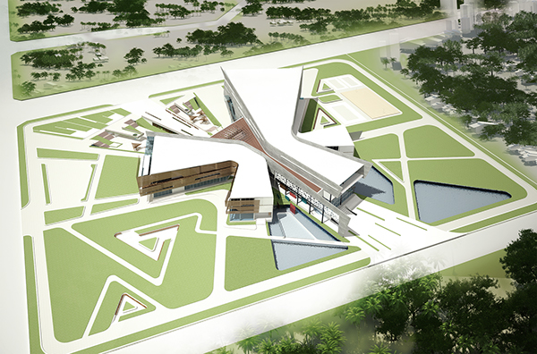 Youth activity center on behance for Youth center architecture