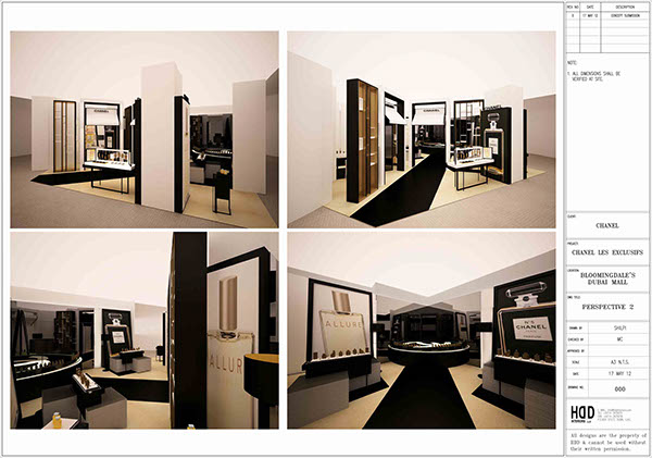 d0d67db4ca7c3e Chanel- Bloomingdales-Dubai mall-Exhibition stand on Behance
