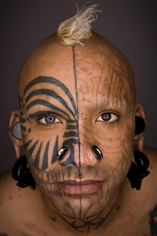Facial tribal tattoos