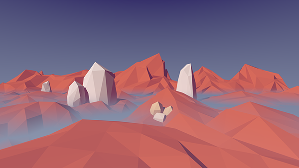 Third Low Poly Art Pubg: Low Poly Landscape On Student Show