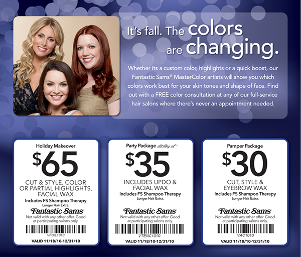 photograph relating to Fantastic Sams Printable Coupon known as Wonderful sams hair colour discount codes - Orlando marriott inns